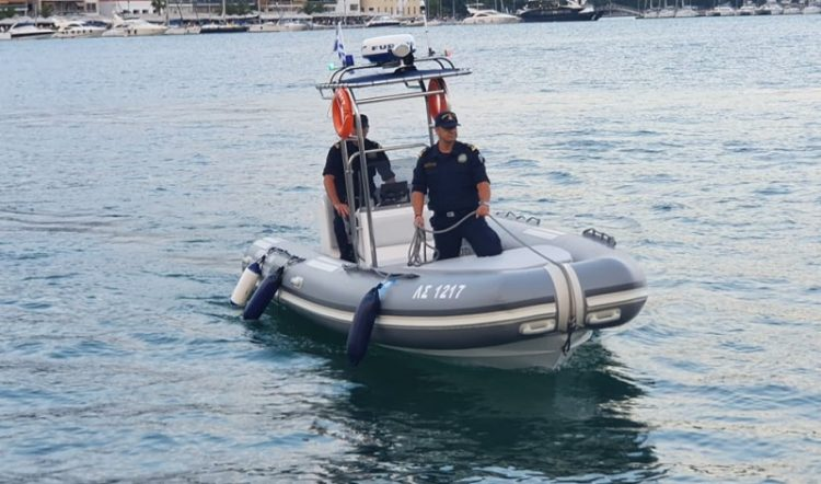 Donation of an inflatable boat to the central port authority of Volos